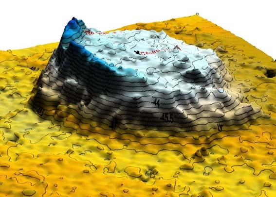 Ricostruzione 3D del vulcano Empedocle