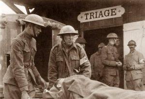 Foto triage da campo francese prima guerra mondiale